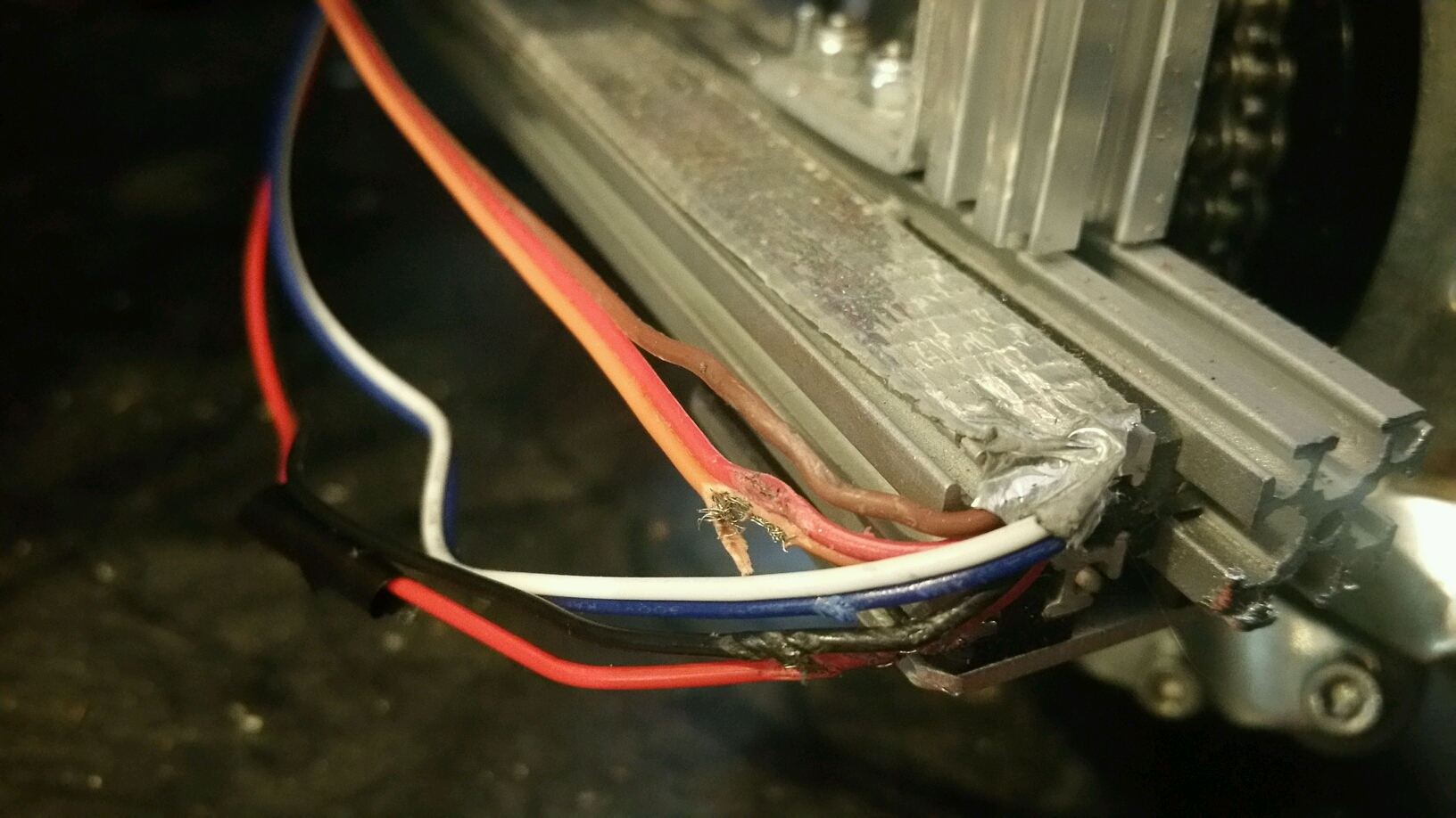 Strippedwires on 3d Printer End Stop Wiring